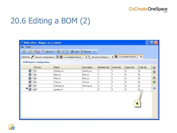 20.6 Editing a BOM (2)