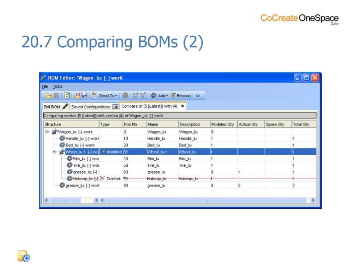 20.7 Comparing BOMs (2)