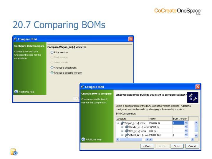 20.7 Comparing BOMs
