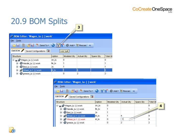 20.9 BOM Splits