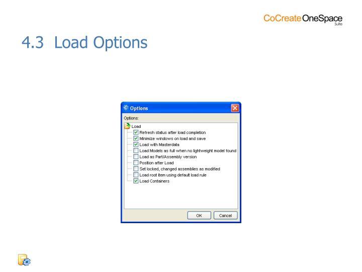 4.3  Load Options