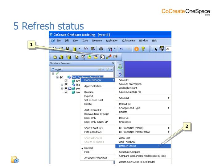 5 Refresh status
