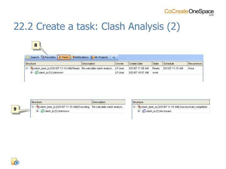 22.2 Create a task: Clash Analysis (2)