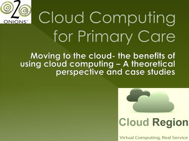 cloud computing for primary care n.