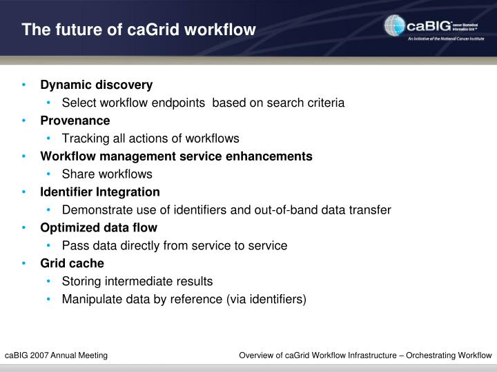 The future of caGrid workflow