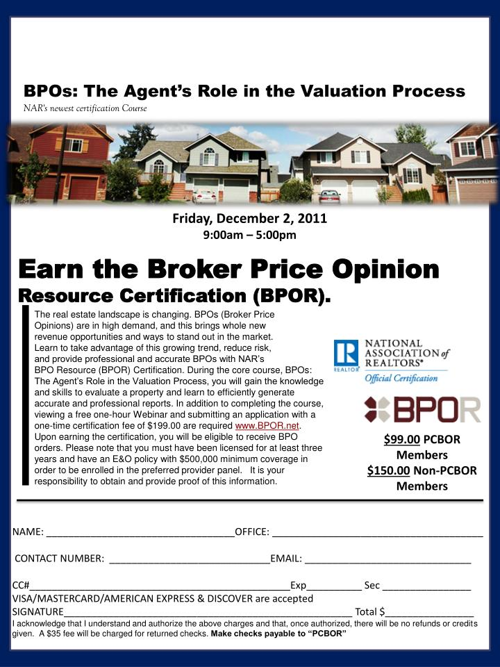 Ppt Earn The Broker Price Opinion Resource Certification Bpor