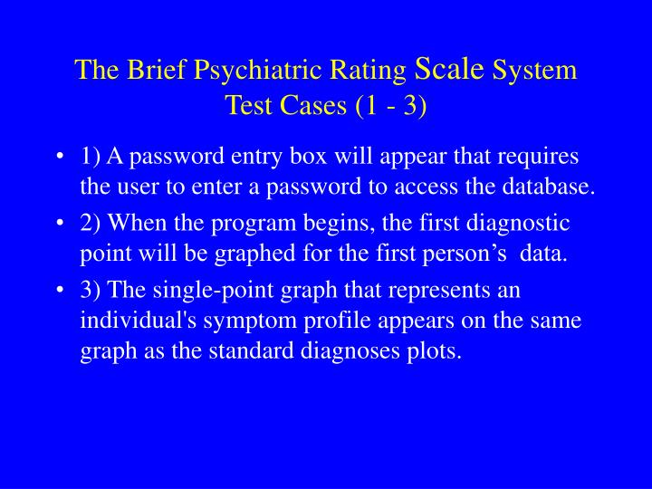 psychiatric rating scales essay Objective: because the accuracy of problems reported by referred children may be compromised by their academic, cognitive, or motivational limitations, clinician rating forms may contribute to the accurate assessment of youth adjustment.