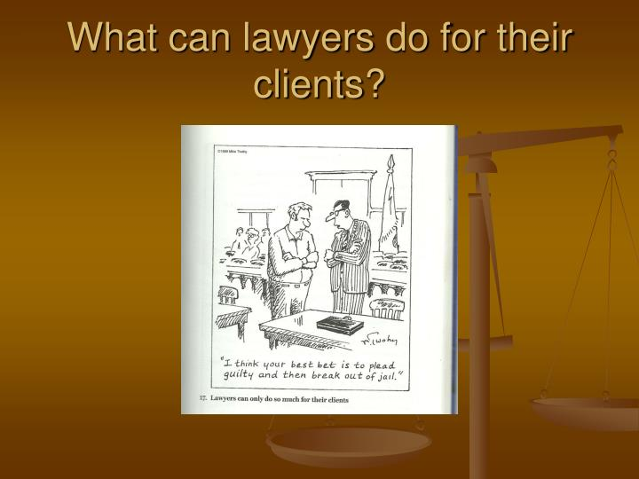 What can lawyers do for their clients
