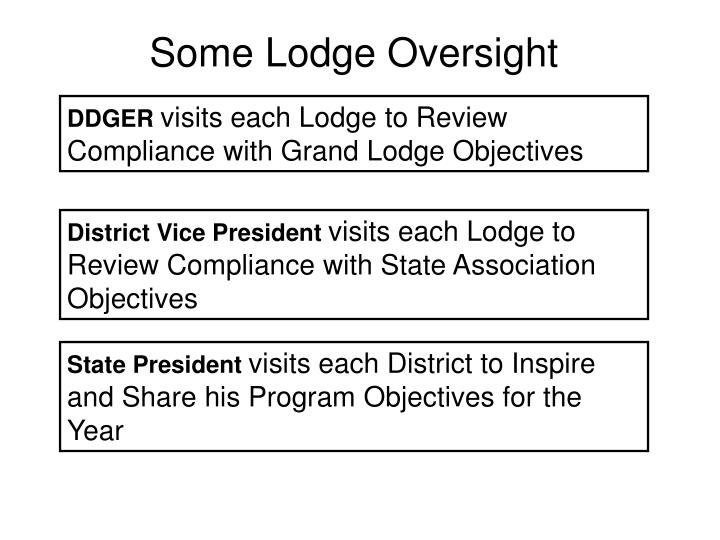 Some Lodge Oversight