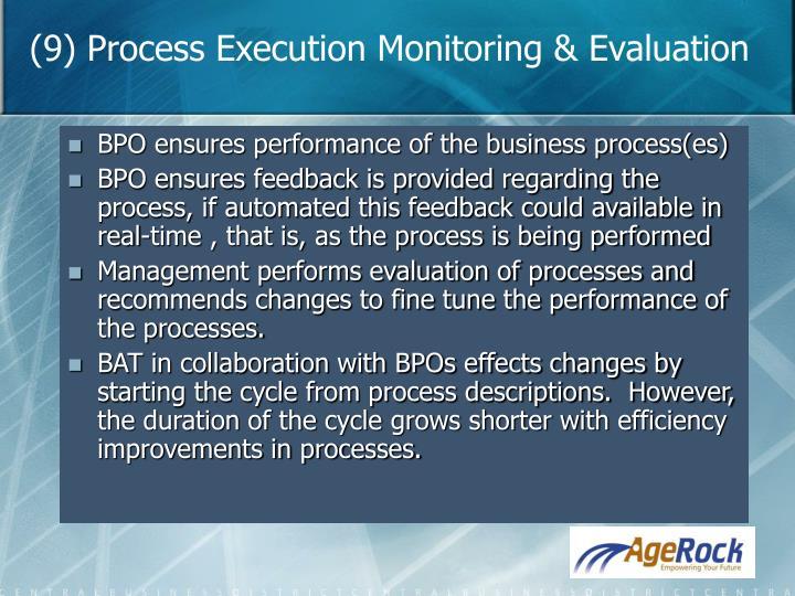 (9) Process Execution Monitoring & Evaluation