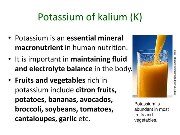 Potassium of kalium