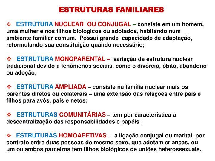 ESTRUTURAS FAMILIARES