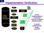 implementation verification
