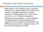 breaking the doha deadlock