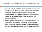 connection between trade and growth