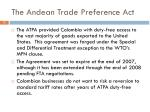 the andean trade preference act
