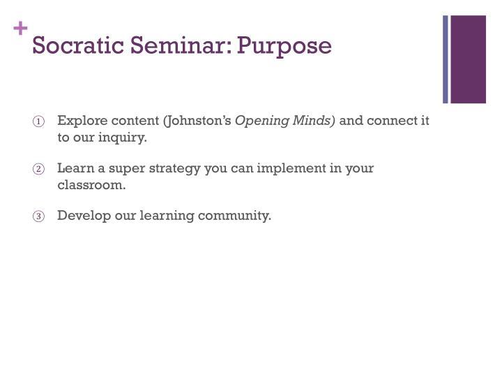 Socratic seminar purpose