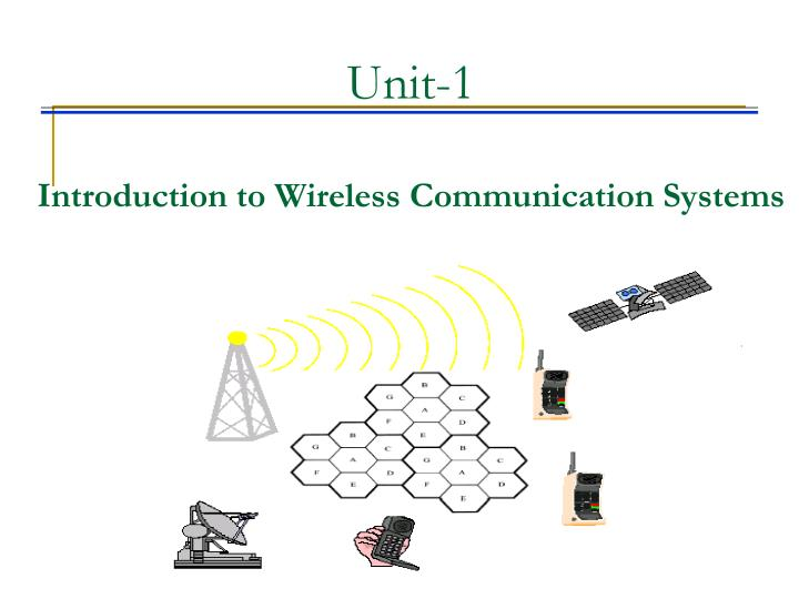 PPT - Unit-1 Introduction to Wireless Communication Systems ...