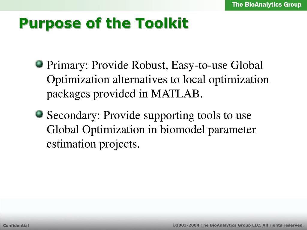 PPT - Global Optimization Toolkit Project PowerPoint Presentation