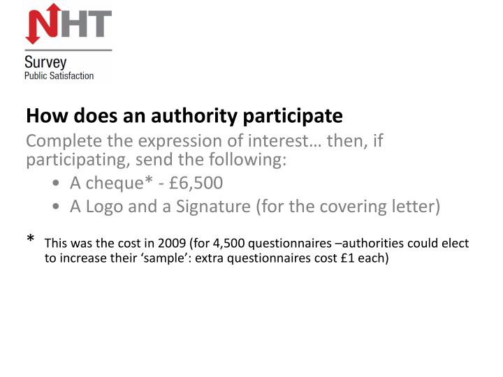 How does an authority participate