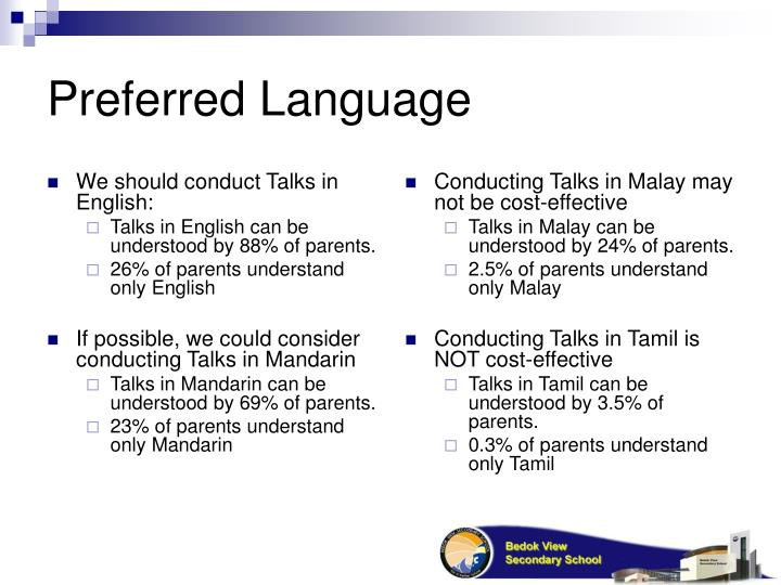 We should conduct Talks in English: