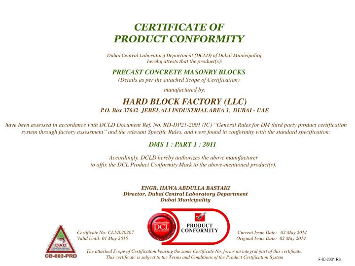 PPT - CERTIFICATE OF PRODUCT CONFORMITY PowerPoint