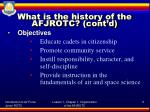 what is the history of the afjrotc cont d1