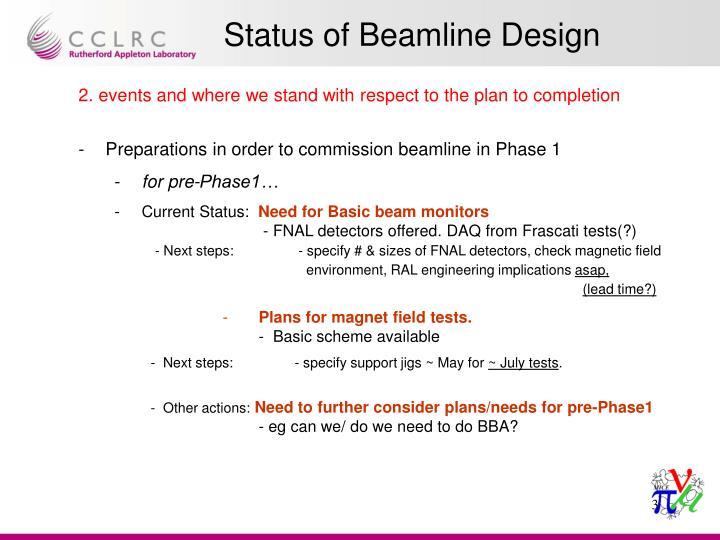 Status of beamline design2