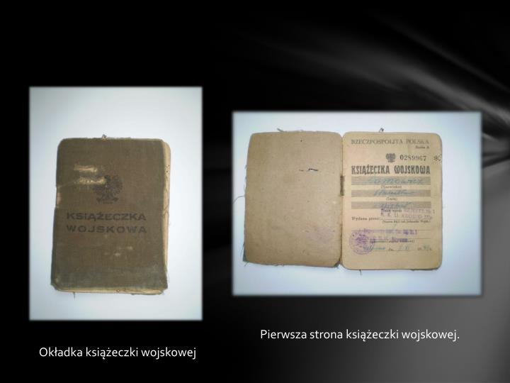 Pierwsza strona książeczki wojskowej.