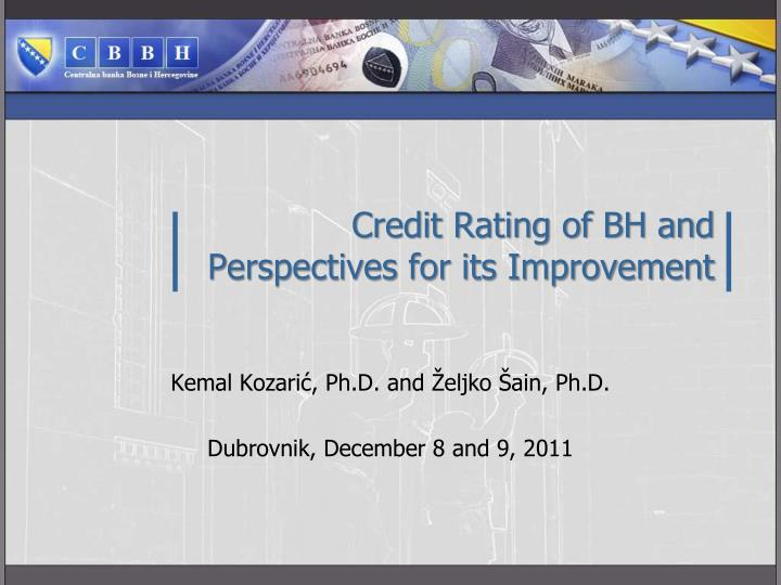 credit rating of bh and perspectives for its improvement n.