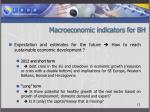 macroeconomic indicators for bh3