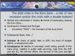 the debt crisis in the euro zone a risk of new recession and or the crisis with a double bottom