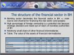 the structure of the financial sector in bh