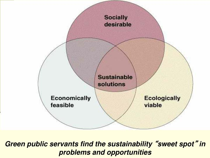 Green public servants find the sustainability
