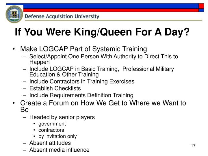 If You Were King/Queen For A Day?