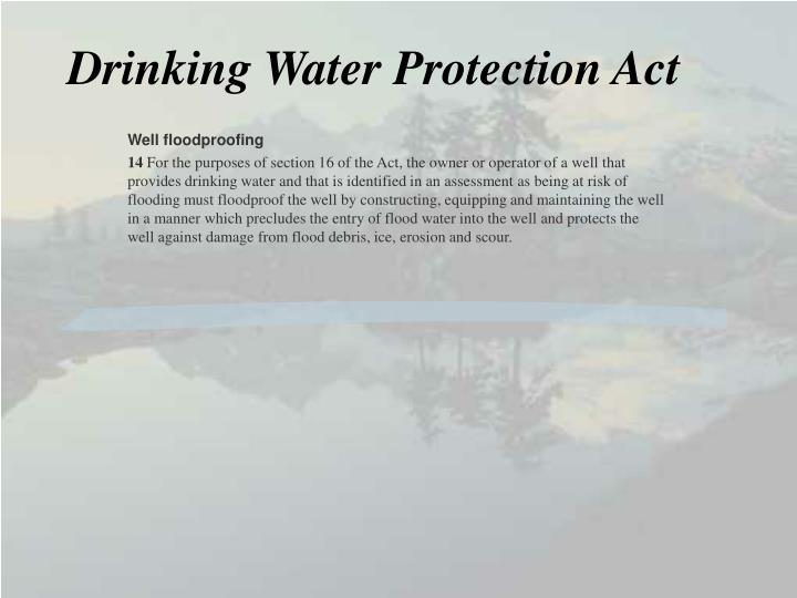 Drinking Water Protection Act