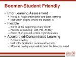 boomer student friendly