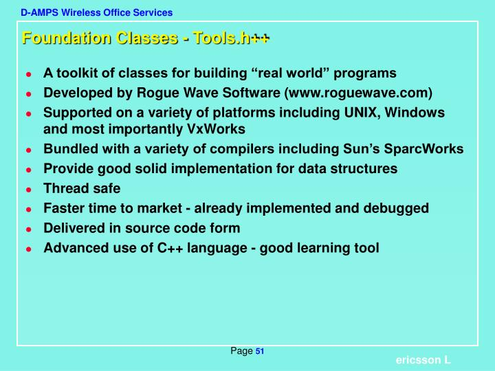 Foundation Classes - Tools.h++