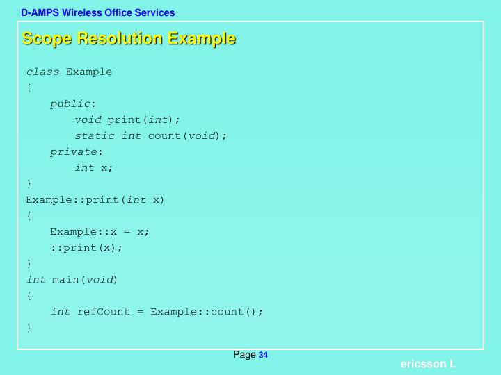 Scope Resolution Example