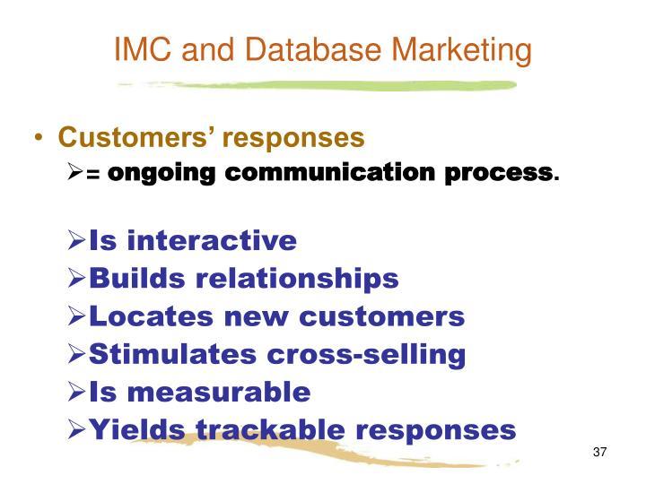 IMC and Database Marketing