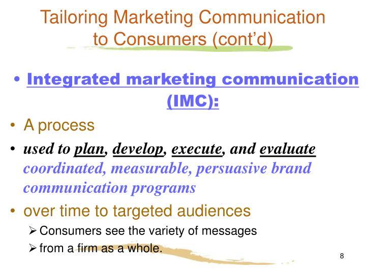 Tailoring Marketing Communication