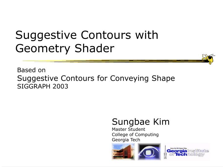 suggestive contours with geometry shader