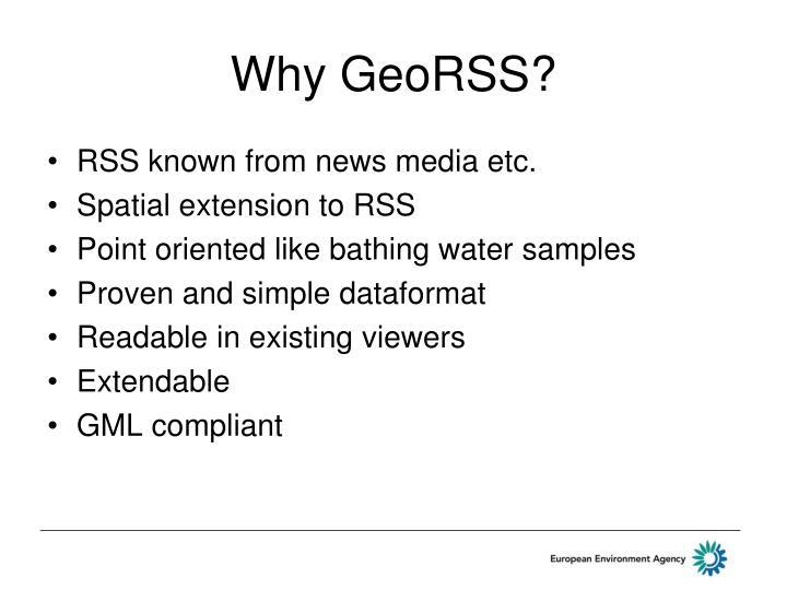 Why GeoRSS?