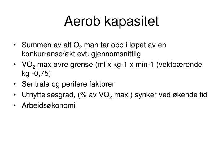 Aerob kapasitet