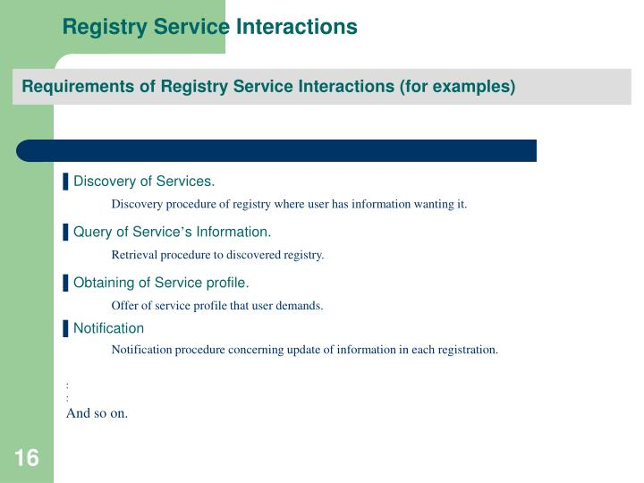Registry Service Interactions