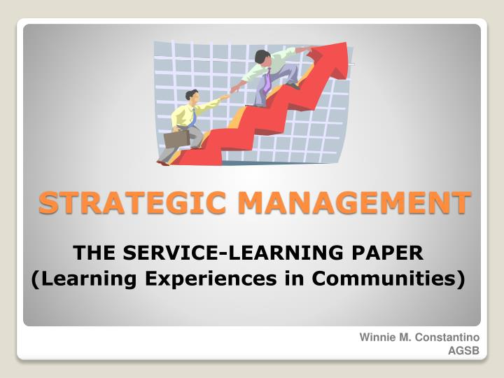 the service learning paper learning experiences in communities n.