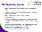 referencing styles