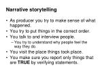 narrative storytelling