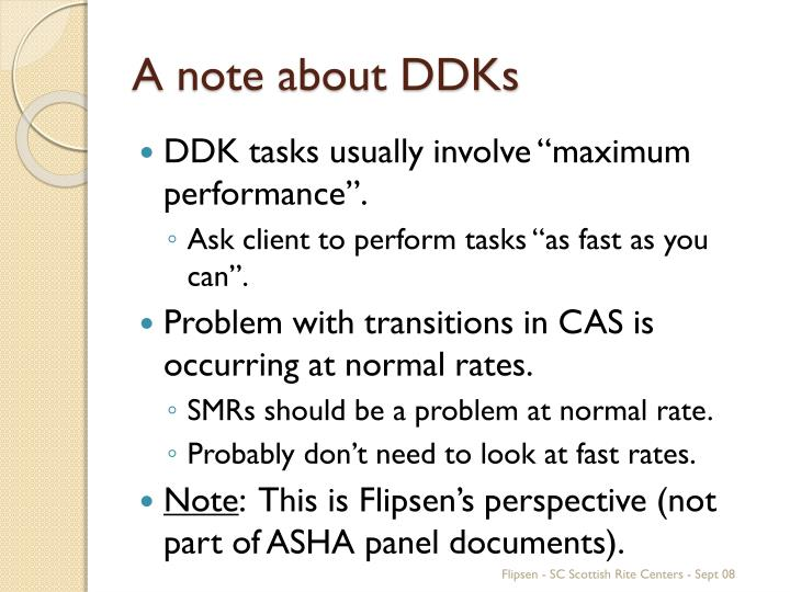 A note about DDKs