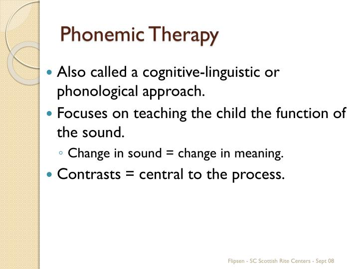 Phonemic Therapy